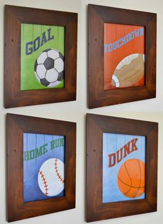 Sports paper prints Soccer Football Baseball by FrogsAndFairytales, $24.00