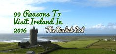 Planning a trip to Ireland? We cover 99 amazing reasons why you have to visit Ireland today! It is pretty much an Irish bucket list. Don't miss out on these amazing things you can do in Ireland. Europe Travel Tips, Travel Advice, Travel Around The World, Around The Worlds, Stuff To Do, Things To Do, Ireland Travel, Places To See, The Good Place