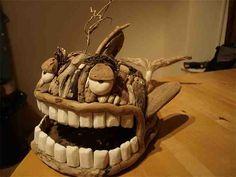 Sleepy - sculpture by Clean Coast Sculptures Driftwood Fish, Driftwood Sculpture, Fish Sculpture, Twig Art, Heavy Metal Art, Driftwood Projects, Sculpture Projects, Junk Art, Art For Art Sake
