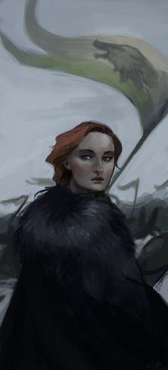 Sansa Stark by LykasWilliam on DeviantArt - Game Of Thrones Game Of Thrones Sansa, Game Of Thrones Books, Sansa Stark, Winter Is Here, Winter Is Coming, Real Madrid, Game Of Trone, Kings Game, Fandoms