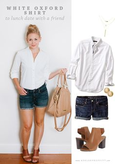 How To Wear A White Oxford Shirt | Intentional Style by Ashlee Proffitt & Megan Michele