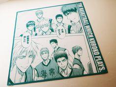 Japanese manga hankerchief, anime print, manga art fabric, anime gift fabric, gift for anime lover, anime drawing decor, bande dessinée by japanmomijidesigns on Etsy