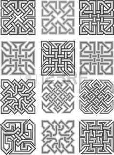 Celtic traditional medieval ornaments photo