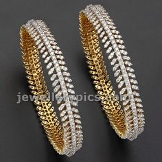 Take a look at our comprehensive choice of diamond bracelets and bangles. Gold Bangles Design, Gold Jewellery Design, Gold Jewelry, Pandora Jewelry, Crystal Jewelry, Wedding Jewelry, Diamond Necklace Set, Diamond Bangle, Diamond Jewelry