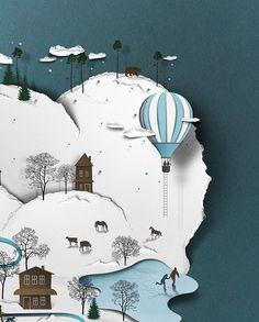 papercut illustrations - Поиск в Google
