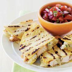 Grilled Chipotle-Chicken Quesadillas | MyRecipes.com
