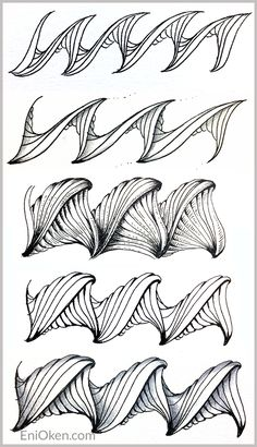 Learn to create amazing Zentangle® • enioken.com  Prasima tangle pattern  3 of 3