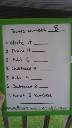 Try this number of the day activity everyday to build number sense and practice…