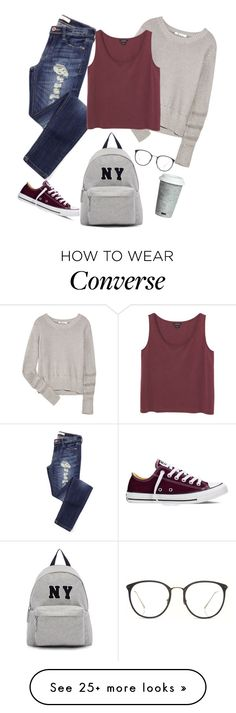 """""""Saturday Morning"""" by aninhad-von on Polyvore featuring T By Alexander Wang, Monki, Converse, Joshua's, Fitz and Floyd and Linda Farrow"""