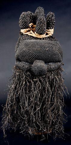 Africa | Mask from the Salampasu people of DR Congo | Natrual fiber