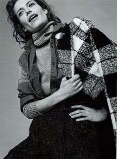 Marie Claire fashion editorial featuring Fay Tartan wool coat from Fall - Winter 2015/16 collection.