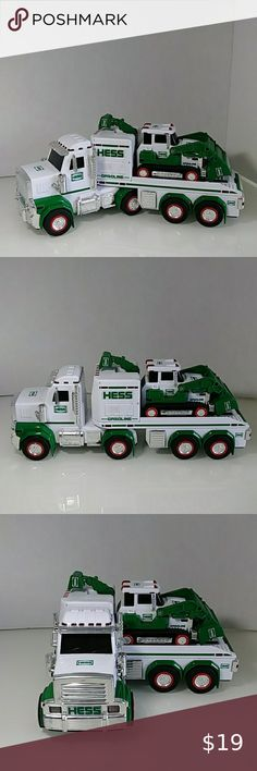 NEW ~ 2014 HESS COLLECTORS LIMITED EDITION TOY TRUCK WITH SECOND TRUCK INSIDE!