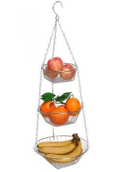 Amazon Homdox フルーツバスケット りんご果物カゴ キッチン雑貨収納3段フック付き 小物入れ バナナスタンド フルーツバスケット オンライン通販