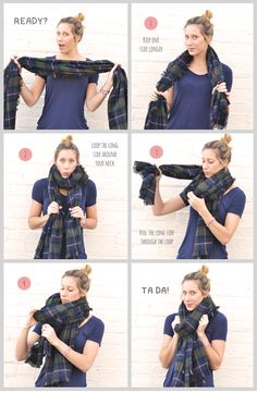 How to Tie a Scarf Fashion Archives : Advice from a Twenty Something I really like this blog.