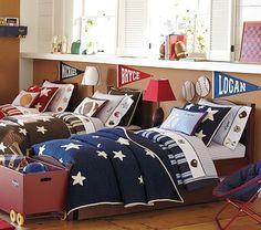 boys bedroom idea...love this idea for the boys room