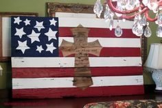 How To Make American Flag Pallet Artwork
