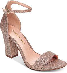 Madden-Girl Bella Two-Piece Block Heel Sandals Fancy Shoes, Cute Shoes, Shoe Boots, Shoes Heels, Stiletto Heels, Cute High Heels, Prom Heels, Fashion Heels, Ankle Strap Heels