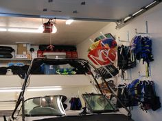 wakeboard/surfboard storage racks for the garage - Wakesurfing