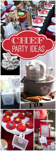 How fun is this Masterchef birthday party where kids got to invent recipes! See more party ideas at CatchMyParty.com!