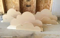 cloud bookshelf ledge tutorial