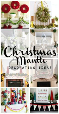 Stumped with how to decorate your mantle for Christmas? Somewhat Simple has some awesome ideas for you! These are gorgeous!