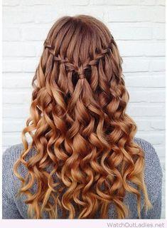 Amazing waterfall braid