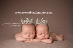 Twin Photo Props Princess Crown Photo Prop by ASweetSweetBoutique