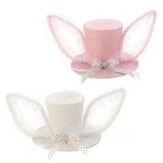 """RAZ Bunny Top Hat with Ears   Assorted colors - Pink, White Priced individually, choose color Made of Paper Measures 7"""""""