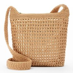 Croft & Barrow® Crochet Harmony Crossbody Bag, Women's, Bamboo Gold (87 RON) ❤ liked on Polyvore featuring bags, handbags, shoulder bags, bamboo gold, crossbody hand bags, man bag, handbags purses, gold crossbody and hand bags