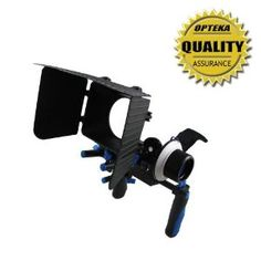 Opteka CXS-100 Dual Rig Kit with Shoulder Support, FF180 Reversible Follow Focus and MB360 Digital Matte Box for Digital SLR and Video Cameras by Opteka. $209.95. The Opteka CXS-100 Videographer's Dual Rig with Shoulder Support Mount will allow any filmmaker to achieve professional results. Constructed of an high quality aluminum and stainless steel, the shoulder support system is designed to accommodate digital SLR cameras all the way up to prosumer camcorders...