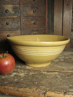 Old Thick Yellowware Mixing Bowl