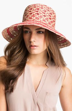 Nordstrom 'Diamond' Raffia Hat available at #Nordstrom