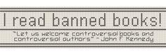 Banned Books cross stitch bookmark pattern