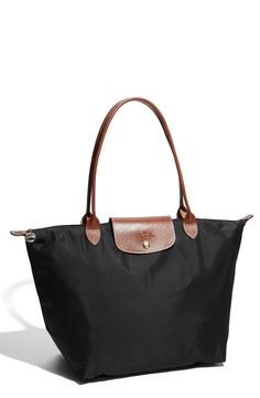 "Long champ 'Large Le Pliage' Tote ""I have the medium in gunmetal and really want the large in black."""