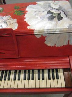 Painted Piano.  I would love something like this.