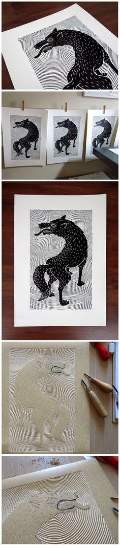 The Wolf by Meriç Karabulut, via Behance...