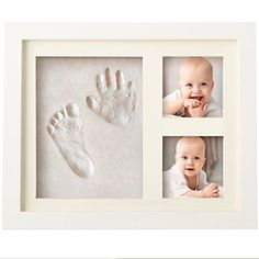 BEST BABY HAND & FOOTPRINT PICTURE FRAME KIT for Boys and...