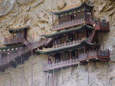 the hanging monastry jilong canyon, china
