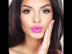 Bright Lips Big Lashes Makeup Tutorial VERY GOOD ...BEAUTIFUL!