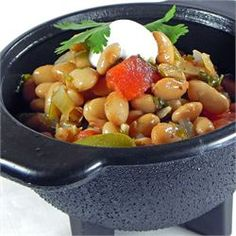 """Kiki's Borracho (Drunken) Beans - Allrecipes.com - """" Wowzer!! This recipe will knock your socks off! I've been looking for a recipe that re-creates the delicious Tex-Mex borracho beans I find in South Tx restaurants and I've found it."""""""