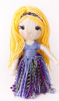 """Cinderella from """"Yarn Whirled : Fairy Tales, Fables, And Folklore""""."""