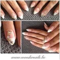 Great stiletto nails ❤️ french ❤️ diamonds