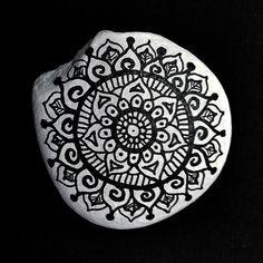 #Brainstone #paintedstone #mandala