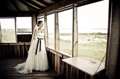 Wedding photo of the bride in old house