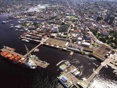 Foto aerea do Porto de Manaus