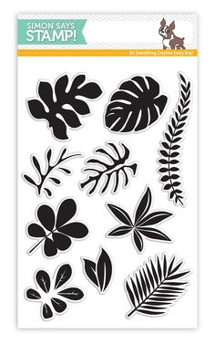RESERVE Simon Says Clear Stamps TROPICAL LEAVES SSS101620 Among The Stars zoom image