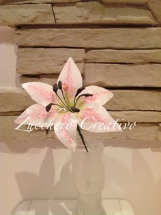 Wafer paper flower