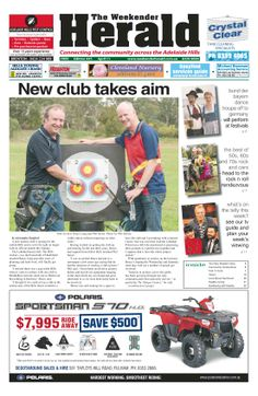 Latest edition online now. Who hare you going to share the Weekender Herald with? http://adelaidehills.realviewtechnologies.com/