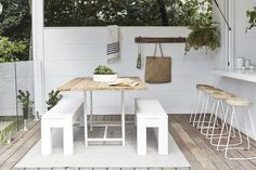 All the nitty-gritty on our Three Birds Renovations projects! Indoor Outdoor Living, Outdoor Rooms, Outdoor Dining, Outdoor Furniture Sets, Outdoor Decor, Oz Design Furniture, Three Birds Renovations, Home Renovation, Interior And Exterior