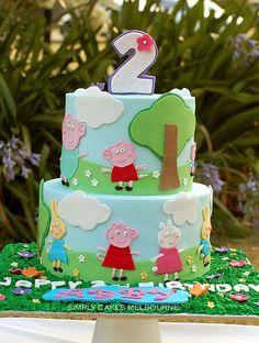 Peppa Pig Cake Ideas - Peppa & Friends Cake
